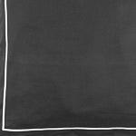 Dunkelgrau mit Ziernaht in Weiß