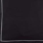 Schwarz mit Ziernaht in Weiß